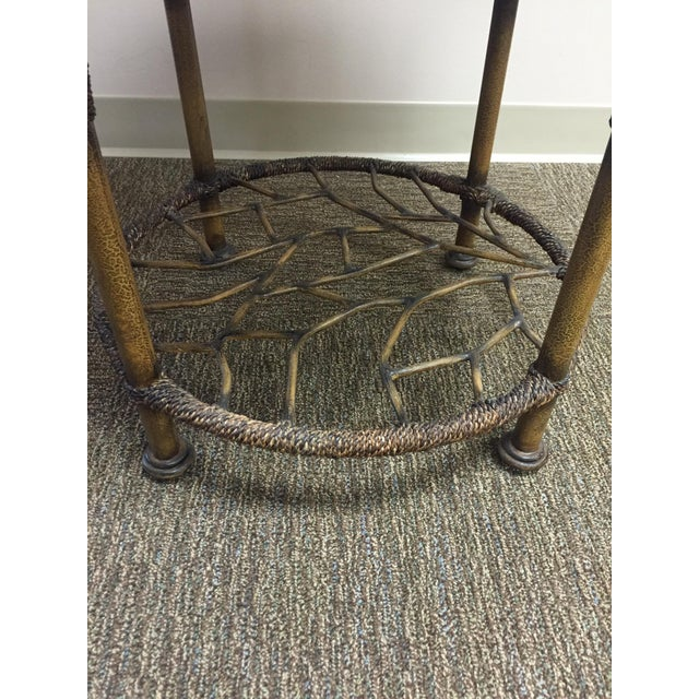 Wooden Round End Table - Image 5 of 8