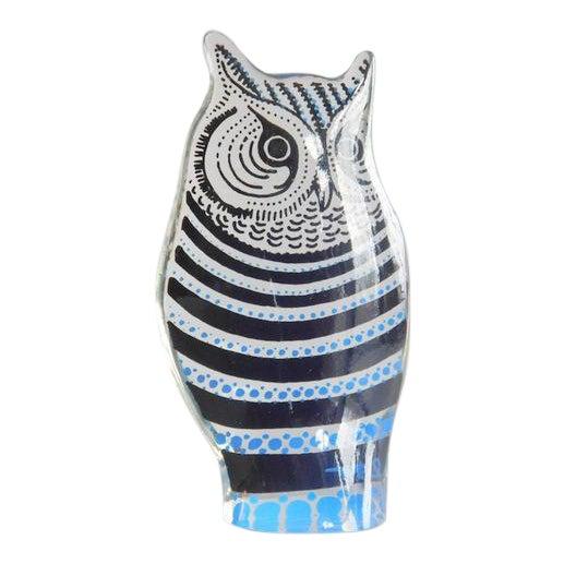 Vintage Abraham Palatnik Op Art Lucite Owl For Sale