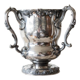 1903 Victorian Silverplate Trophy For Sale