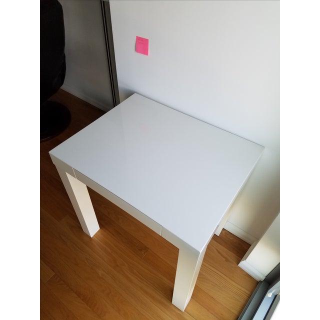 Contemporary West Elm Parsons Mini Desk For Sale - Image 3 of 5