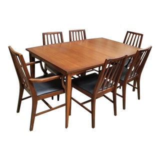 Mid-Century Modern Dining Set - Set of 7 For Sale