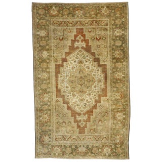 20th Century Turkish Oushak Rug - 7′8″ × 12′5″ For Sale