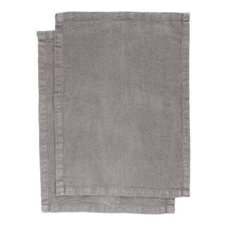 Once Milano Placemats in Heavy Linen Taupe - Set of 2 For Sale
