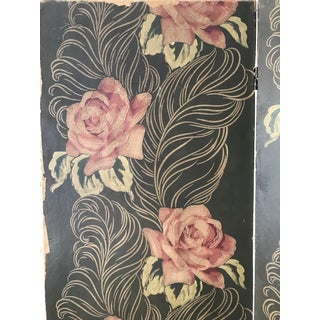 Vintage Floral Folding Privacy Screen Preview
