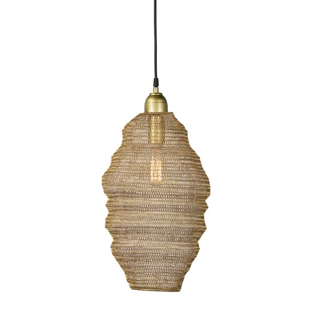 Metal Copper Mesh Pendant from Kenneth Ludwig Home For Sale - Image 7 of 7