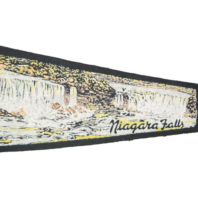 Charming and rare felt flag banner pennant of Niagara Falls Canada, circa 1950s. Perfect vintage gift for a loved one or a...