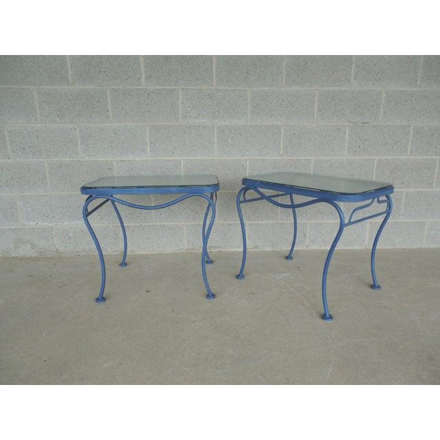Vintage Woodard Hampton Park Pair Glass Top End Tables Model #1A052903 - Image 7 of 8