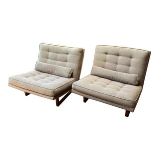 Mid-Century Milo Baughman Style Lounge Chairs - a Pair For Sale