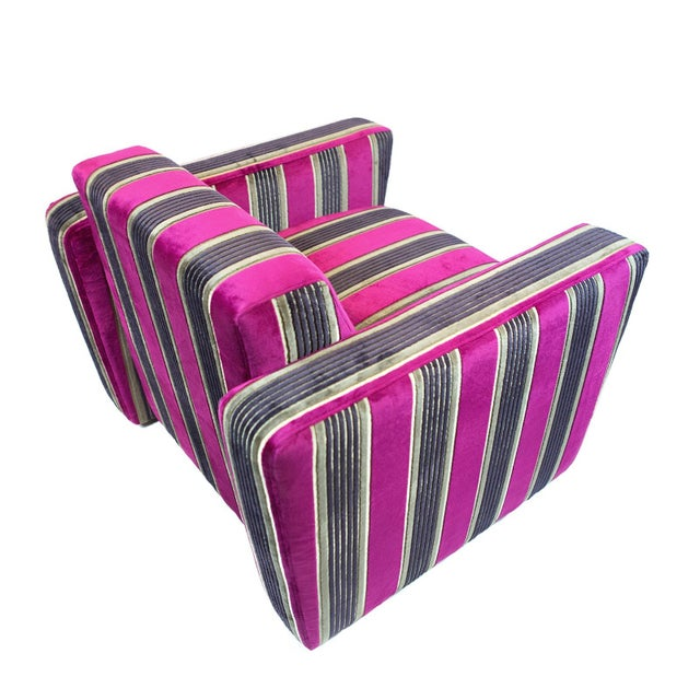 British Airways First Class Striped Club Chair - Image 5 of 10