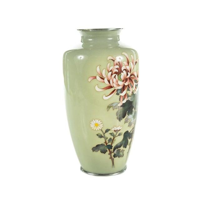 Vintage Japanese Cloisonné Ando Vase For Sale - Image 4 of 9