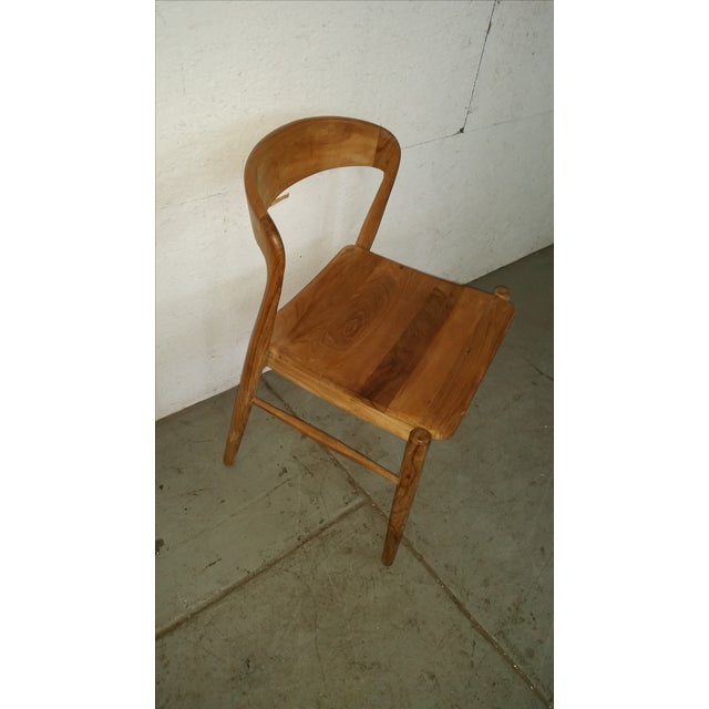 Theodore Mid-Century Modern Teak Side Chair - Image 2 of 4