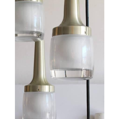 Contemporary Eight Hanging Light Brass Chandelier by Staff of Germany For Sale - Image 3 of 10
