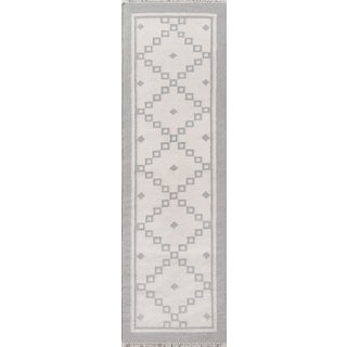"""Erin Gates Thompson Langley Grey Hand Woven Wool Runner 2'3"""" X 8' For Sale"""