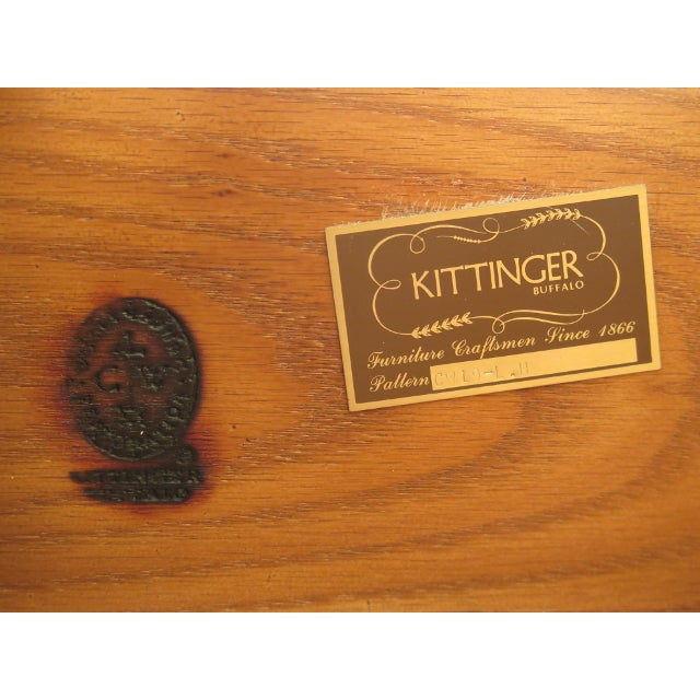 Kittinger Colonial Williamsburg Clawfoot Mahogany Lowboy For Sale - Image 10 of 11