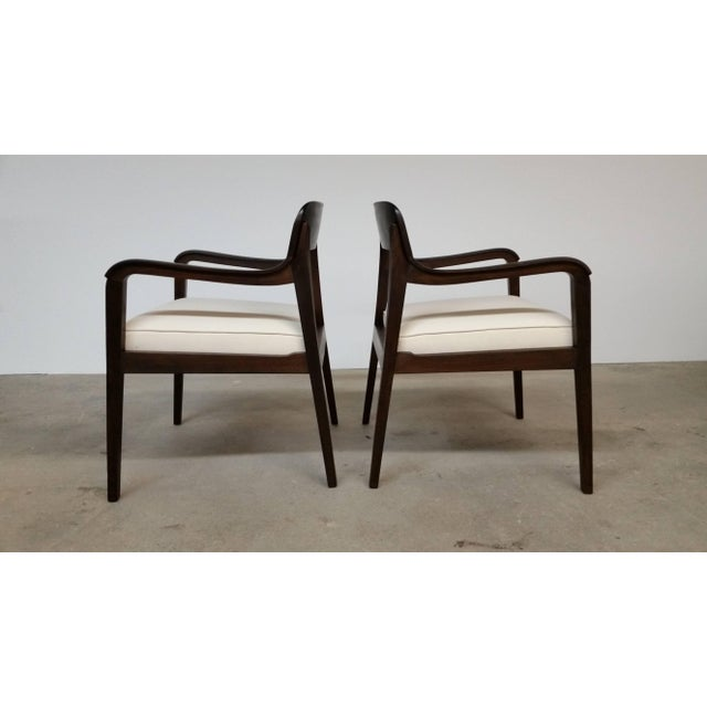 1950s Pair of Dunbar Riemerschmid Chairs For Sale - Image 5 of 5