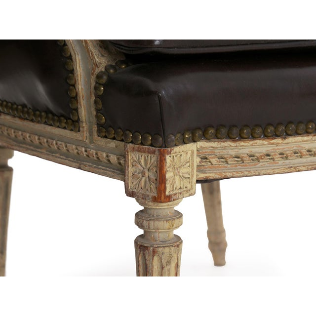 "French Louis XVI Antique ""Duchesse Brisée"" Chaise Lounge, 19th Century For Sale - Image 11 of 13"
