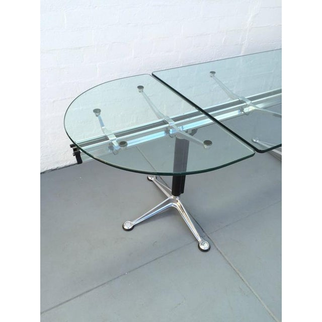 Herman Miller Glass and Aluminum Table Designed by Bruce Burdick for Herman Miller For Sale - Image 4 of 9
