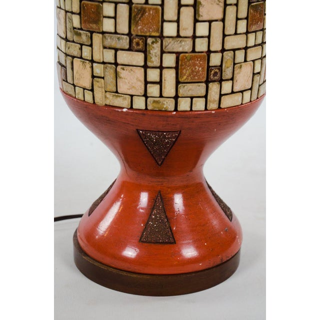 Mid-Century Ceramic and Tile Westwood Table Lamps - a Pair For Sale - Image 10 of 13