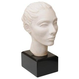 Classical italian Plaster of Paris Head Sculpture For Sale
