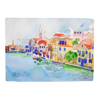 Mediterranean Waterfront Premium Giclee Print For Sale