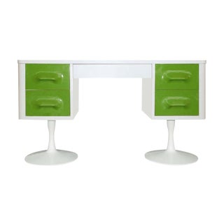 Retro Broyhill Premier Raymond Loewy Style Atomic Desk For Sale
