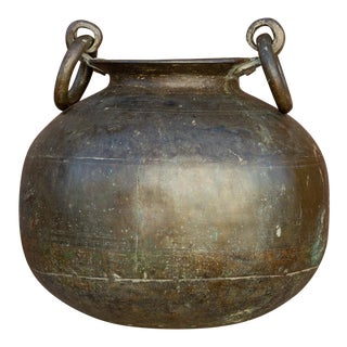 Antique Tribal Brass Pot For Sale