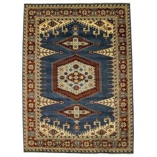 Blue Geometric 10x14 Viss Oriental Rug For Sale