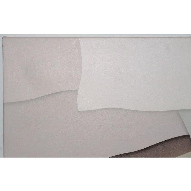 "Canvas William DeKoornbolt ""Wonton Malice"" Original Mixed Media Abstract Painting C.1981 For Sale - Image 7 of 11"