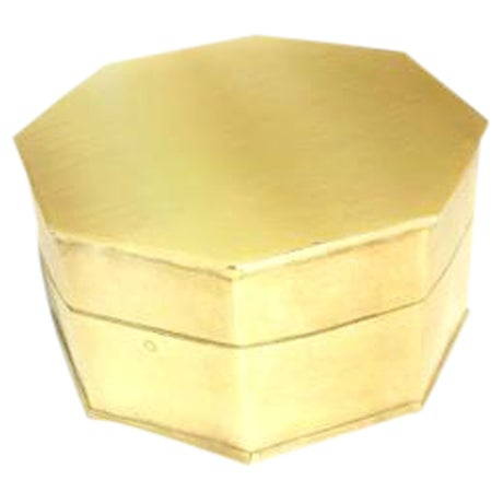Vintage Brass Octagonal Box - Image 1 of 3