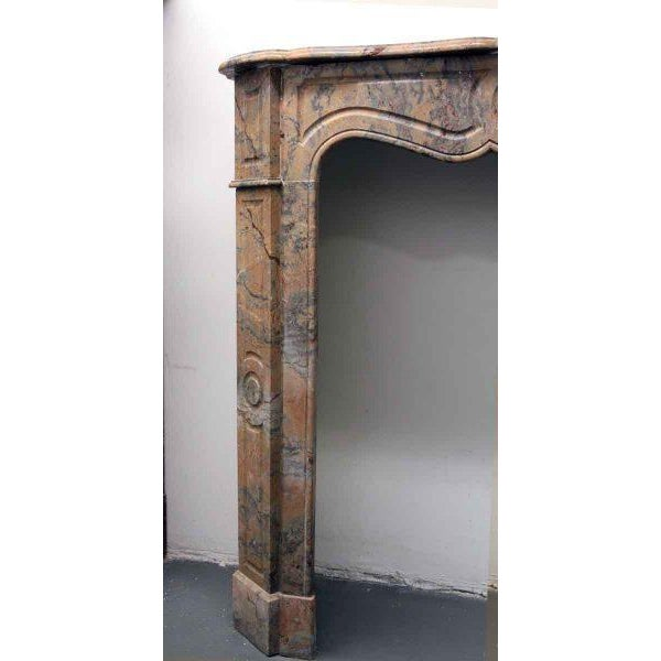 French French Pompadour Marble Mantel For Sale - Image 3 of 7