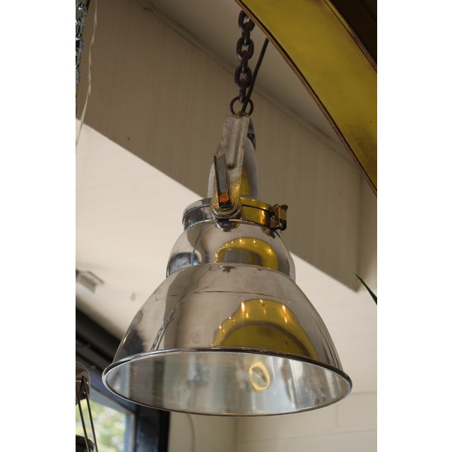 Vintage Industrial Aluminum & Steel Pendant Lamp - Image 2 of 10