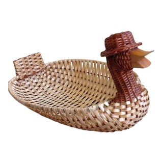 'Duck Wearing A Hat' Serving Basket