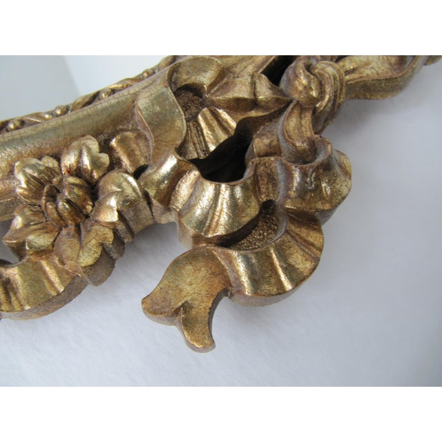Syroco Wood Gold Syroco Wood Ornate Mirrow For Sale - Image 4 of 7