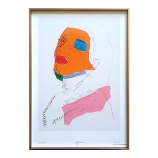 """Andy Warhol Rare Lithograph Print Framed Italian Exhibition Pop Art Poster """" Ladies and Gentlemen """" 1975 For Sale"""