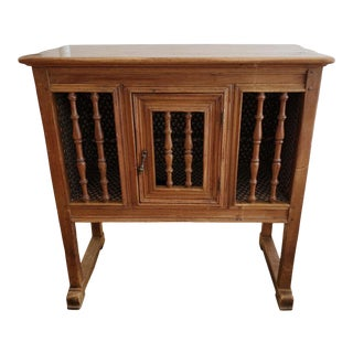 """19th Century French Provincial Walnut """"Panettiere"""" Bread Cabinet For Sale"""