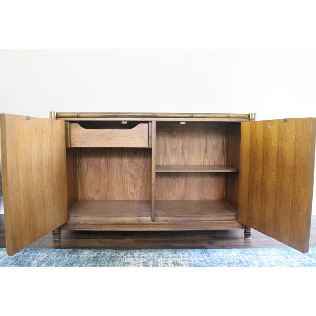 Stanley Mid Century Faux Bamboo Credenza - Image 5 of 11