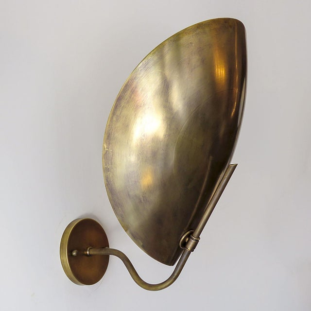 Gallery L7 Raw Brass Beetle Wall Lights For Sale - Image 4 of 11