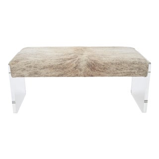 "Samantha Brindle Beige & Gray 60"" Bench For Sale"