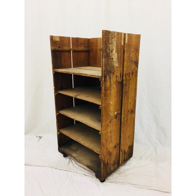 Antique Wood Factory Cart For Sale In Raleigh - Image 6 of 11