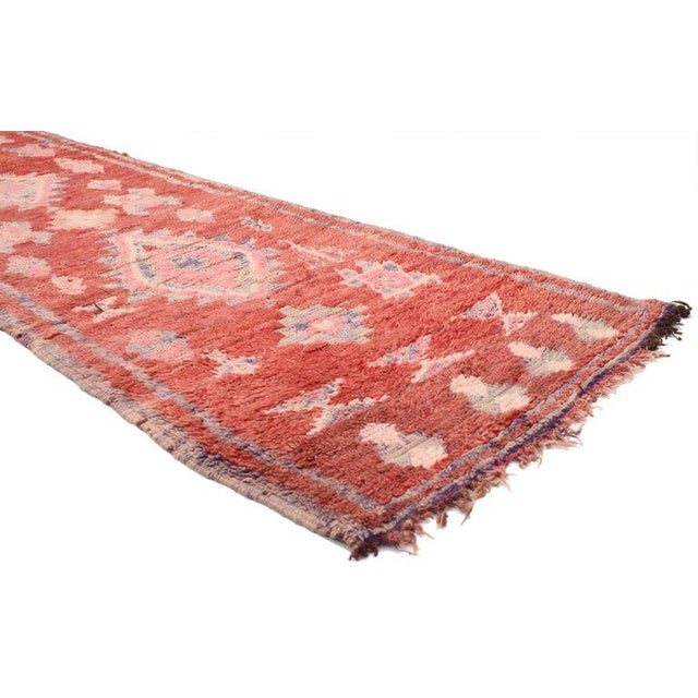 Vintage Berber Moroccan Runner with Tribal Style - Image 3 of 5
