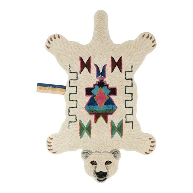 Doing Goods Kasbah Polar Bear Rug Large For Sale - Image 6 of 6