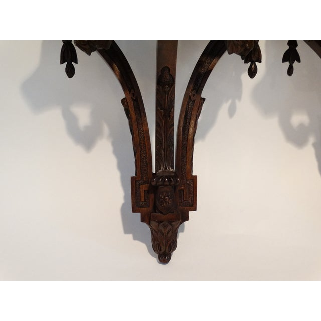 French Antique Carved Wall Brackets, Pair For Sale - Image 4 of 8