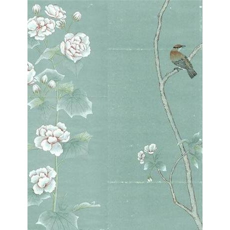Not Yet Made - Made To Order Casa Cosima Octavia Blue Wallpaper Mural - Sample For Sale - Image 5 of 5