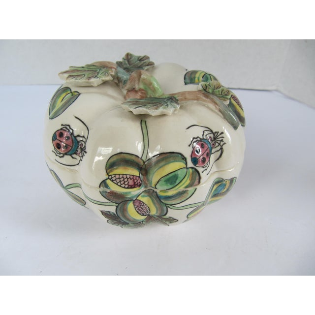 Vintage Chinoiserie Porcelain Pumpkin From Charles Willis Atlanta For Sale - Image 9 of 9