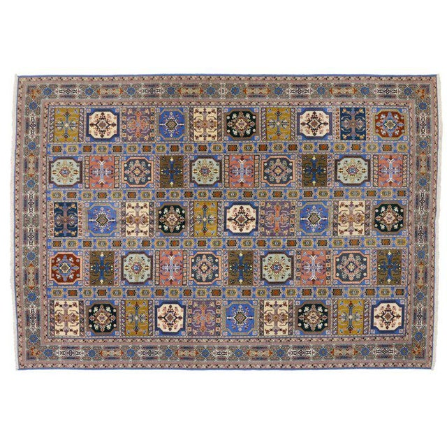 Berber Tribes of Morocco Rabat Moroccan Rug With Compartment Design - For Sale - Image 4 of 9