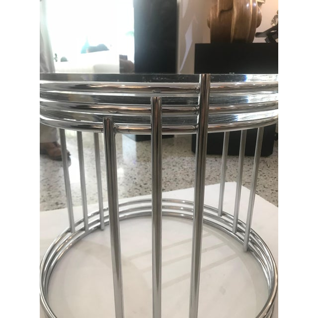 Round Polished Chrome Nesting Tables - Set of 3 For Sale - Image 11 of 13