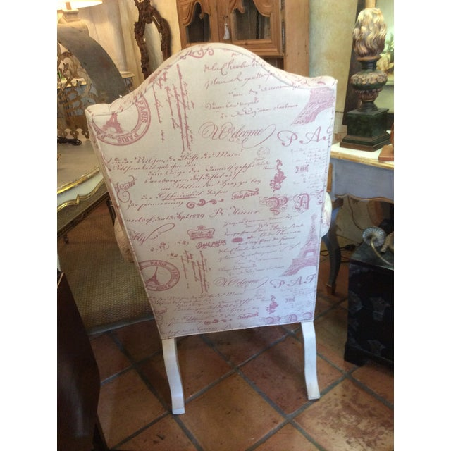Sculptured Paris Inspired Wingback Chair - Image 6 of 6