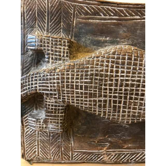 1960s Vintage African Wooden Crocodile Stool For Sale In Boston - Image 6 of 9