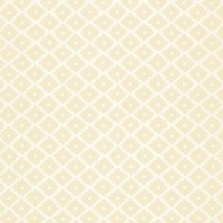 Sample - Schumacher Ziggurat Wallpaper in Alabaster For Sale