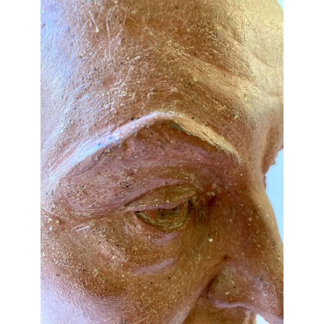 Vintage Terra Cotta Bust Signed Lillian Alperson For Sale - Image 4 of 11